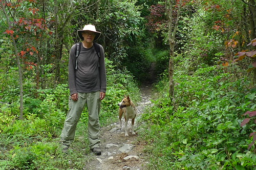 "John and ""our dog"" - Vilcabamba, Ecuador"
