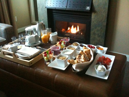 Breakfast was just delivered @Westin_Whistler
