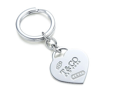 Tiffany 1837 heart shaped key ring