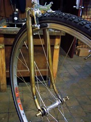 Fork, Pauls, and Tire (Capricorn Bicycles) Tags: bicycle paul handmade steel m frame fixie fixedgear brake tall really artisan racer lugs lugged pacenti