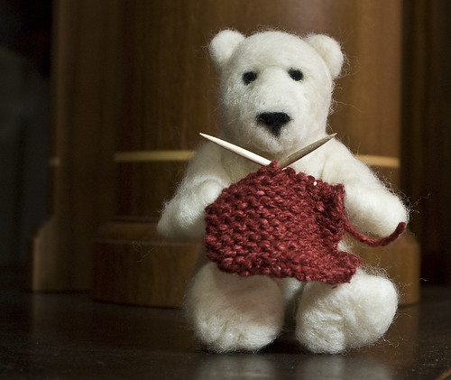 Felted Bear Knitting