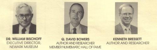 ANA School of Numismatics Bischoff, Bowers, Bressett