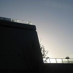 solar angles (andrewpaulcarr) Tags: school light shadow sun cold london ice silhouette architecture evelyn grace architect academy brixton balustrade sinter zaha hadid