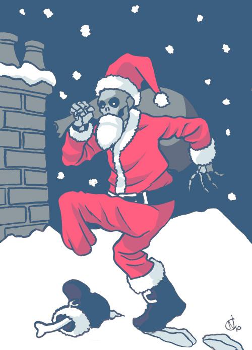 01 - Skeleton Santa