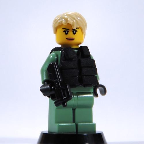 Custom minifig Stargate SG-1 Tac Vest v1 (w/Carter fig)