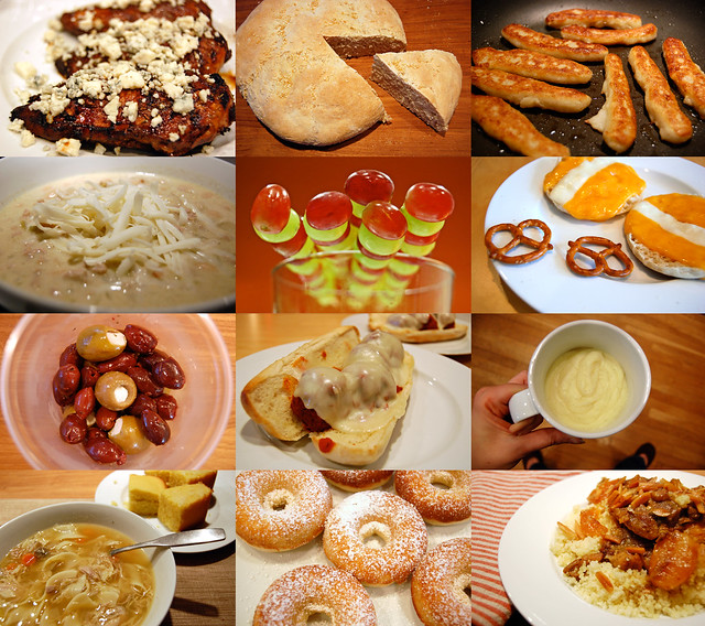 january food collage
