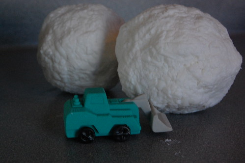 Snowball soap with a Surprise!