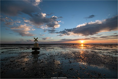 -----X-----O----- (Kevin HARWIN) Tags: water sea wet beach sand reflections sky blue red orange sun clouds bouy stones rocks canon eos 70d sigma 1020mm lens whitstable bubble south east kent uk england britain sunset