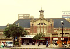 Hundred years of elegance - Taichung  Station (葉 正道 Ben(busy)) Tags: brickˍbuilding building 建築 architecture 台灣 red 紅色 landscape 風景 台中火車站 taiwan taichung renaissance 文藝復興 taichungˍstation railway 後期文藝復興 chenˍyeˍjinwuˍstyle 金吾辰野スタイル 辰野金吾風格 elegance