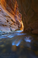 Convergence (Brian Knott Photography) Tags: zion zionnationalpark utah narrows virginriver desert water creek stream river canyon slotcanyon orange light morning flowing rushing running cascade waterfall rocks boulders