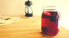 Passion (Shudong Hao) Tags: tea passion afternoon life red color berries berry mason jar coldbrew