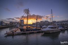 Boats at Sunset (lpg_photos) Tags: portishead marina docks boats sunset clouds somerset