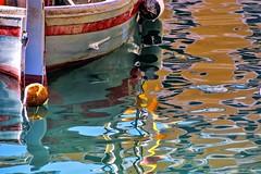 luci e colori  nell'acqua … (miriam ulivi OFF /ON) Tags: miriamulivi nikond7200 italia liguria camogli porto harbour barca boat riflessi reflections colors colori acqua water mare sea luce light