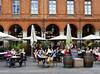 photo - Cafe Albert, Place du Capitole, Toulouse (Jassy-50) Tags: photo toulouse france placeducapitole place plaza piazza platz square sidewalkcafe openaircafe umbrella cafealbert cafe