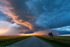 Sunset Thunderstorm (Brett Abernethy(www.brettabernethy.com)) Tags: country roads thunderstorm sunset hour golden alberta photography tours