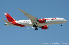 Avianca 787 n792av (merlyn.pauley) Tags: madrid madridbarajasairport airport spain avianca 787 n792av dreamliner boeing