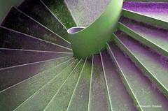 Spiral stair (Renate Dodell) Tags: green lines purple lila treppe grn curve rund breathtaking stufen linien spiralstair wendeltreppe thegalaxy anawesomeshot theunforgettablepictures breathtakinggoldaward windmillsspirals vanagram breathtakinghalloffame mygearandmepremium mygearandmebronze mygearandmesilver mygearandmegold dorenawm ringexcellence dblringexcellence tplringexcellence