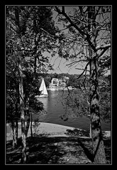 On the Northwest Arm (KirkinHalifax) Tags: bw nikon halifax northwestarm d90 saiboat sirsanfordflemingpark