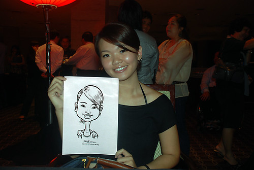 Caricature live sketching for Travel Partners Appreciation Dinner - World Fiesta - 8