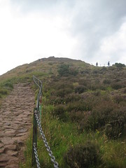 Looking up at Arthur's Seat, Holyrood Park, Edinburgh