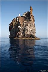 Strombolicchio - Isole Eolie (Monica M. ®) Tags: italy faro nikon italia mare blu sicily rocce colori sicilia vulcano eolie stromboli scogli isoleeolie tirreno d80 monicamongelli