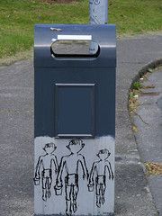 bin walk (lensable) Tags: street green its grass photoshop work grey garbage paint go off we bin domestic hi waste ho recycle curved walkers receptacle handdrawn lensable