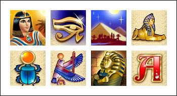 free Cleopatra's Pyramid slot game symbols