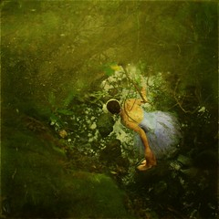 a turning point (luce houghton) Tags: trees ballet green water leaves river ballerina rocks purple dirty fairy texturesbylesbrumes lucehoughton catherinefowler