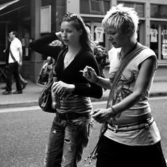 Ladies in Motion (Anthony Cronin) Tags: street ireland dublin 6x6 analog photography all rights neopan ac agfa folders agfaisolette irlanda xtol isolette foldingcamera irelanddublin solinar lifeliving dublinlife photographystreet agfaisoletteiii dublindublin dublinirish formatfolding eldocumental y48filter streetdublin irishcharacter anthonycronin streetsdublin solinarlens fotografíadelacalle reservedirish photographystreets dublindublinersinside dublinliving analogsimpliciusapug© irelandagfa iiicolor skoparmedium camera6x6120filmdevrecipe5418fuji neopankodak xtolfilmbrandfujifilmnamefuji 400filmiso400developerbrandkodakdevelopernamekodak callededublín tpastreet photangoirl