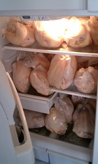 A fridge full of fresh pastured poultry