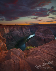 Horseshoe Bend Sunset (Gary Randall) Tags: sunset arizona clouds river desert coloradoriver horseshoebend garyrandall dsc28452