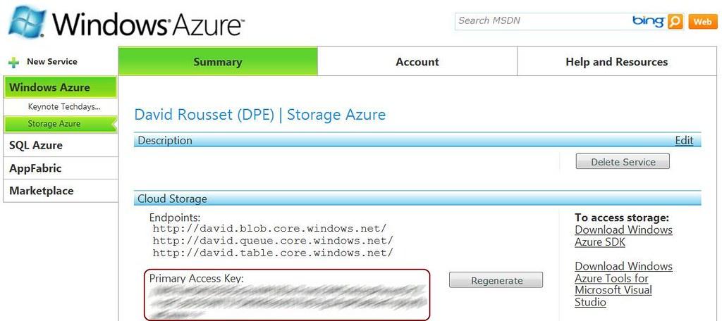 SL4 XNA Platformer Level Editor for WP7: Azure storage (3/4) – David