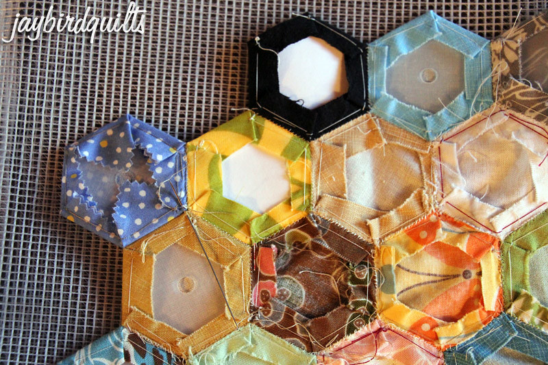 hand sewing hexagons part 1 quilting basics tutorial series