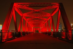 Shanghai - Shanghai Shipyard Bridge (cnmark) Tags: china bridge red project geotagged noche shanghai riverside nacht steel promenade noite   shipyard pudong avenue nuit  development notte nachtaufnahme lujiazui  allrightsreserved  mygearandmepremium mygearandmebronze mygearandmesilver mygearandmegold mygearandmeplatinum mygearandmediamond dblringexcellence tplringexcellence geo:lat=31246498 geo:lon=121503339 aboveandbeyondlevel4 aboveandbeyondlevel1 flickrstruereflection1 flickrstruereflection2 eltringexcellence aboveandbeyondlevel2 aboveandbeyondlevel3 rememberthatmomentlevel1 rememberthatmomentlevel2