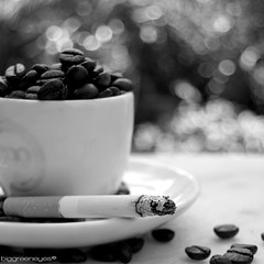 cigarettes and coffee, man, that's a combination (biggreeneyes) Tags: 35mm nikon cigarettes caff caf f50 sigarette cigarros d40 coggee