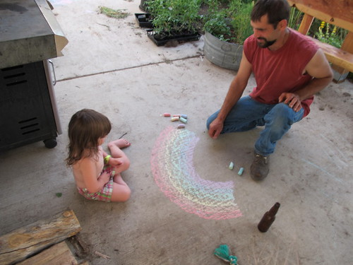 Papa made a rainbow for his Peelu