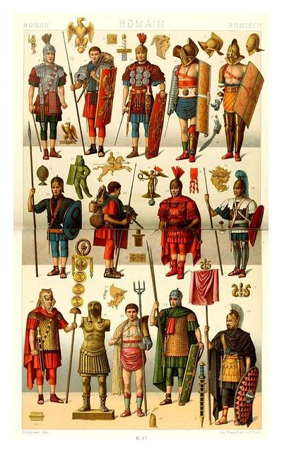 009-Vestuario e implementos romanos -Geschichte des kostüms in chronologischer entwicklung 1888- A. Racinet