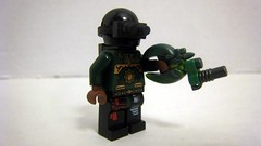Green Company Soldier With Grenade Launcher (The Brick Guy) Tags: green soldier lego company prototype custom minifigure brickarms modernwarfare m203grenadelauncher uclip chainblade z5epodgun