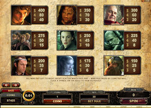 free The Lord of the Rings slot mini symbol