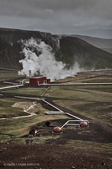 Like a Lego - Krafla Geothermal Power Station | Krafla (Iceland) (andrea erdna barletta) Tags: road red rain clouds landscape iceland islandia solitude power lego steam sublime desolate myvatn badweather islanda greenenergy krafla geothermalpowerstation fumarole landsvirkjun softcolors geothermalenergy sturmunddrang modularconstruction kraflageothermalstation erdna kraflacaldera andreaerdnabarletta er4n1 volcanicpower
