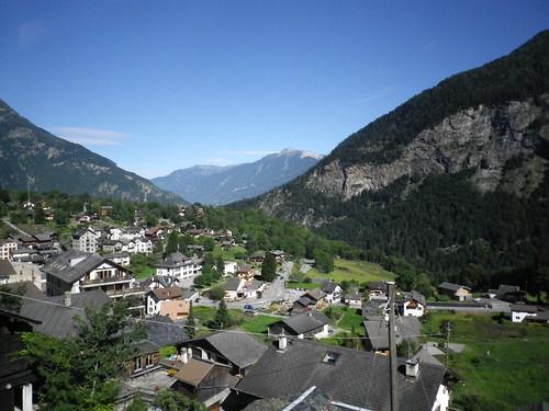 Martigny到Chamonix的山间火车