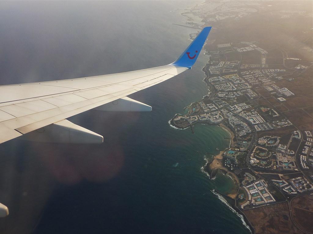 Aerial Costa Teguise, Lanzarote.