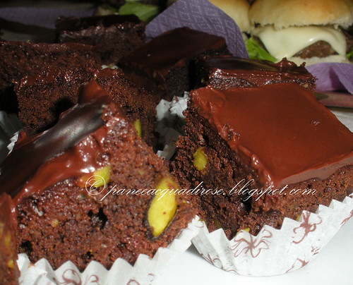 minibrownies al pistacchio