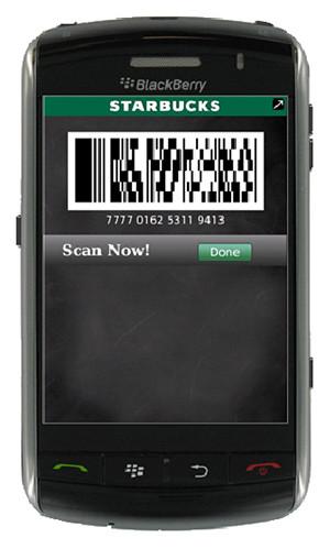 Starbucks Blackberry App