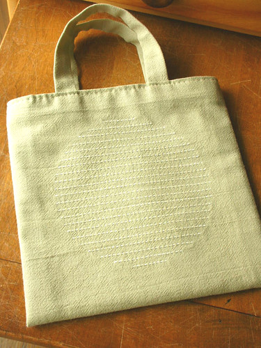 Sashiko tote bag (circle)