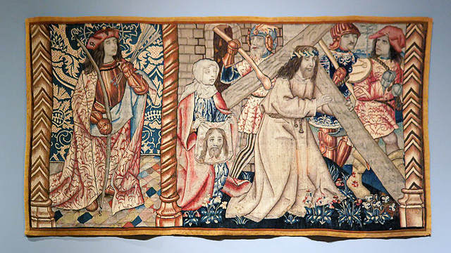 Tapestry of the Way of the Cross with Saint Veronica, at the Saint Louis Art Museum