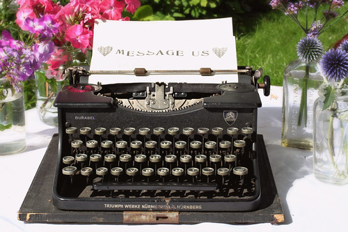Antique Typewriter Used As Guest Book