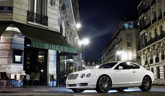 Bentley Continental GT (__martin__) Tags: auto white paris cars night automobile continental automotive british autos tamron nuit nocturne bentley britishcar parisnight parisbynight digitalcameraclub worldcars