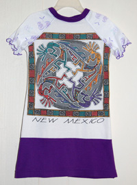 New Mexico - Upcycled 4T Dress