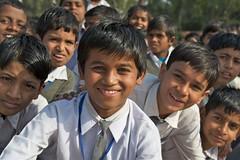 Schoolchildren, Raj Ghat (Justin Jackson) Tags: school boy portrait people india children outdoors uniform day outdoor delhi group schoolchildren rajghat